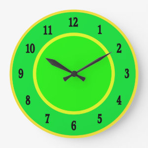 Fun Lime and Lemon Wall Clock