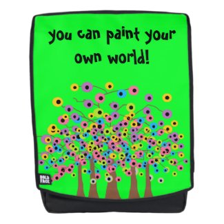 Abstract Colorful Trees Design Backpack