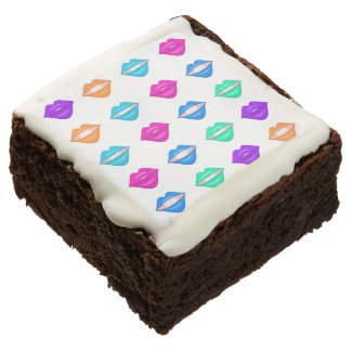 Fun lips brownie square