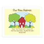 Fun Little House New Address Postcard