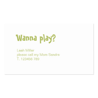Fun little Mommy calling card with polka dots