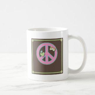 Fun Little Peace Sign Classic White Coffee Mug