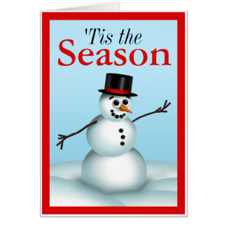 Fun Little Snowman 'Tis the Season Holiday Cards