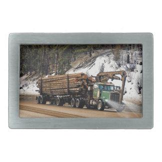Fun Log In - Log Out Logging Trucker Art Design Belt Buckle