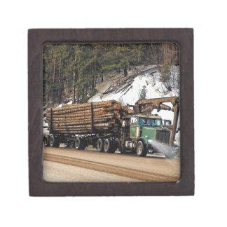 Fun Log In - Log Out Logging Trucker Art Design Gift Box