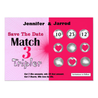 Fun Lotto Scratch Off Save the Date Announcement