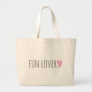 Fun Lover with Heart Tote Bag