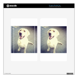 Fun loving yellow Labrador Retriever named Chevy Kindle Fire Decals