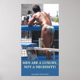 Fun Luxury Men Poster! Poster