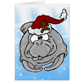 Fun Manatee Christmas Card