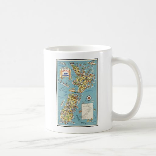 Fun map of New Zealand Coffee Mug