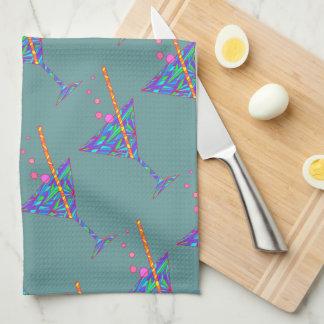 Fun Martini Glass Abstract Art Happy Hour Towel