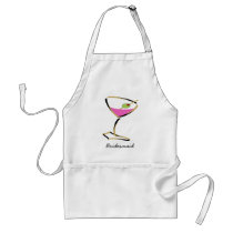 fun martini gold adult apron