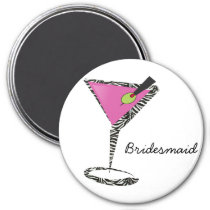 fun martini hot pink magnet