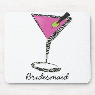 fun martini hot pink mouse pad