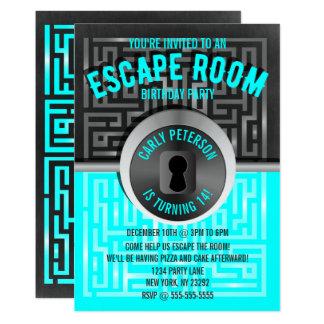 Fun Maze Escape Room Party Invitations