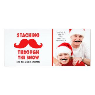 Fun Merry Christmas Mustache Photo Card