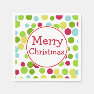 Fun Merry Christmas Napkins Paper Napkins