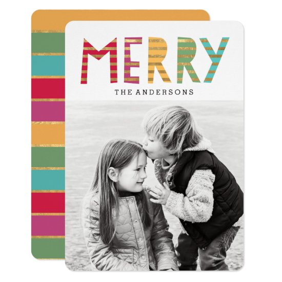 Fun Merry Holiday Photo Card