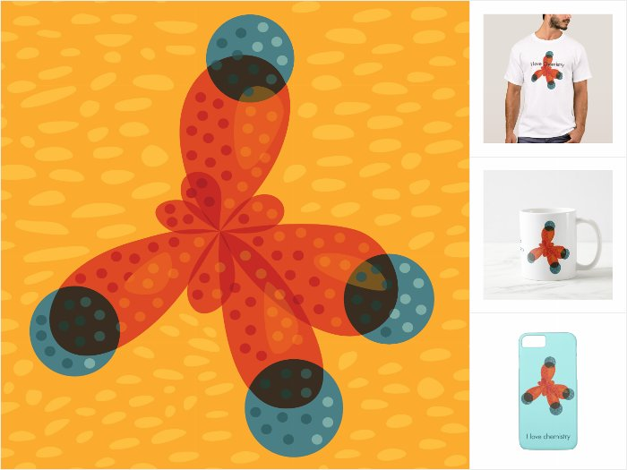 Fun methane molecule products collection at Zazzle