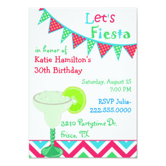 Fun Mexican Fiesta Birthday Party Invitation