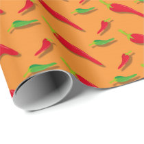 Fun Mexican Fiesta party pattern wrapping paper