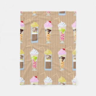 Fun Milk Shake Design Fleece Blanket