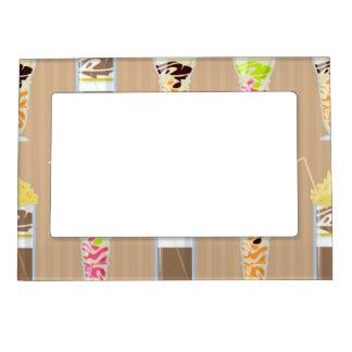 Fun Milk Shake Design Magnetic Photo Frame