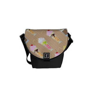 Fun Milk Shake Design Messenger Bag
