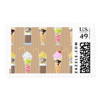 Fun Milk Shake Design Postage Stamp