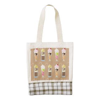 Fun Milk Shake Design Zazzle HEART Tote Bag