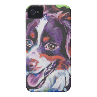 FUN miniature australian shepherd pop art painting Case-Mate iPhone 4 Case