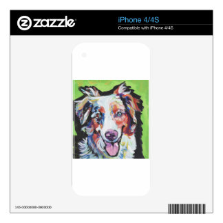 FUN miniature australian shepherd pop art painting iPhone 4 Skin