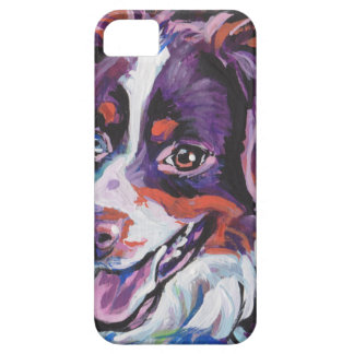 FUN miniature australian shepherd pop art painting iPhone SE/5/5s Case