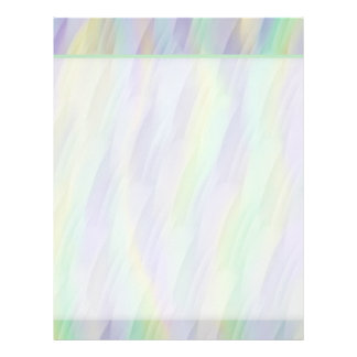 Fun Mint Green Lavender Yellow Pattern Letterhead
