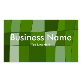 Fun Mirror Checks in Green Double-Sided Standard Business Cards (Pack Of 100)
