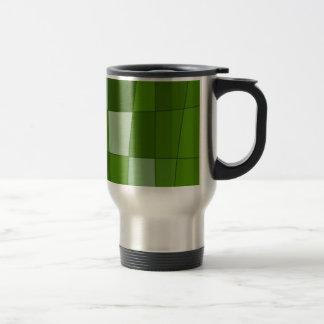 Fun Mirror Checks in Green Travel Mug