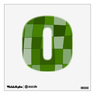 Fun Mirror Checks in Green Wall Decal