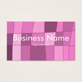 Fun Mirror Checks in Pink Business Card
