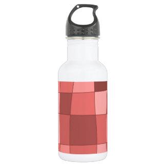 Fun Mirror Checks in Salmon Pink Stainless Steel Water Bottle