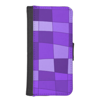 Fun Mirror Checks in Violet Phone Wallet Case