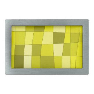 Fun Mirror Checks in Yellow Belt Buckle