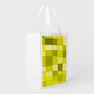 Fun Mirror Checks in Yellow Grocery Bag
