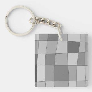 Fun Mirror Checks Single-Sided Square Acrylic Keychain