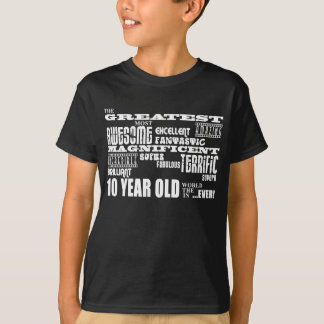 Fun Modern 10 Birthday Party Greatest Ten Year Old T-Shirt