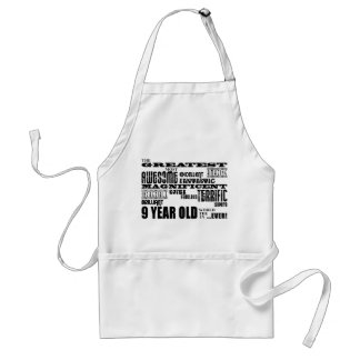 Fun Modern 9 Birthday Party Greatest Nine Year Old Adult Apron