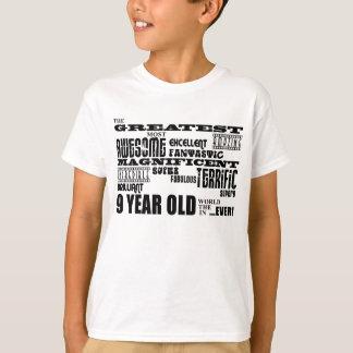 Fun Modern 9 Birthday Party Greatest Nine Year Old T-Shirt