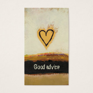 Fun modern art heart painting customize your own business card