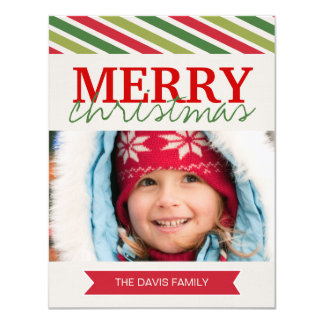 Fun Modern Christmas Photo Cards
