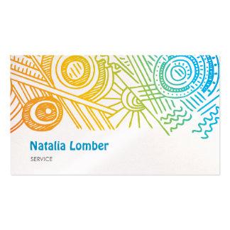 Fun Modern Colorful Doodle Profile Template Business Cards
